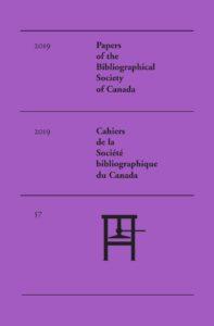Couverture Vol. 57 (2019): Numéro spécial: L'imprimé LGBTQ+ au Canada et ailleurs : bilans et perspectives