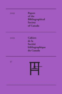 Purple cover of Vol 57 (2019): Special Issue: LGBTQ+ Print Culture: Overviews and Perspectives